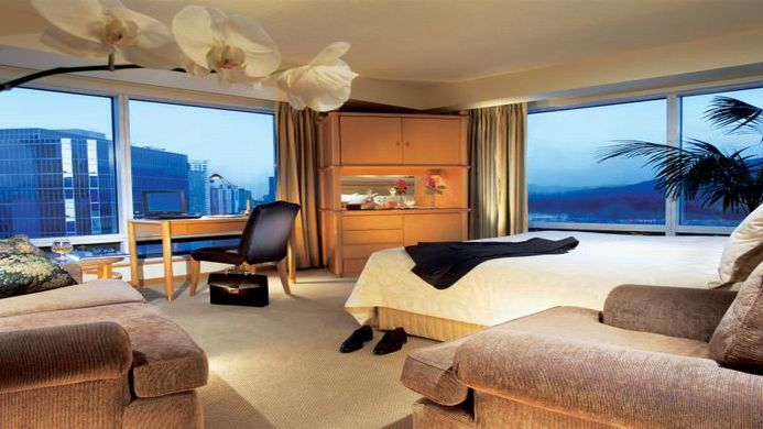 View of Pan Pacific Hotel Vancouver - Muslim Friendly Travel in Vancouver