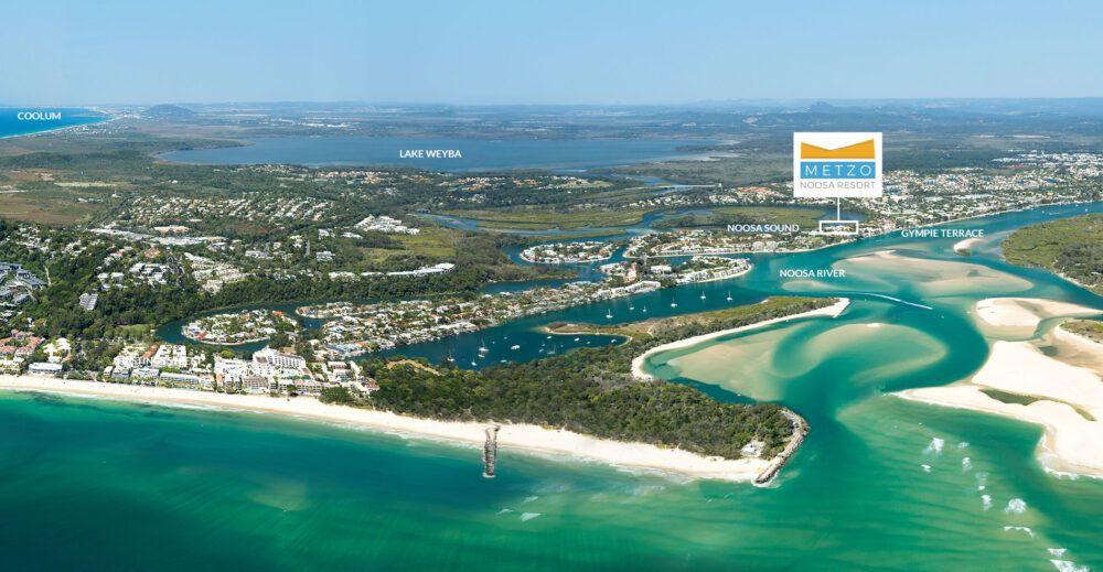 View of Metzo Noosa Resort - Muslim Friendly Travel in Sunshine Coast