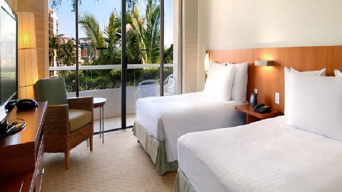 View of Hilton Cairns hotel - Muslim Friendly Travel in Cairns