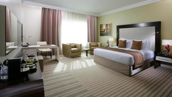 View of Auris Plaza Hotel Dubai - Muslim Friendly Travel in Dubai