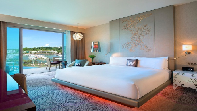 View of W Singapore Sentosa Cove Hotel - Muslim Friendly Travel in Singapore
