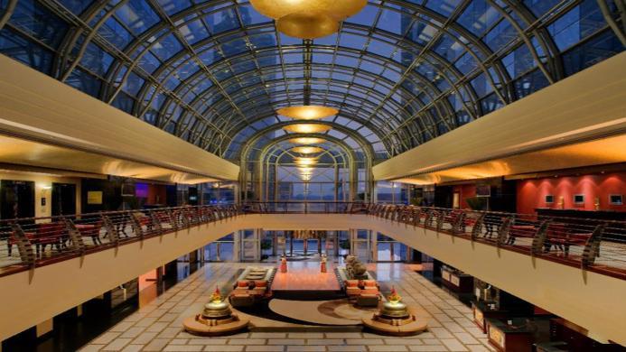 View of Dusit Thani Hotel Dubai - Muslim Friendly Travel in Dubai