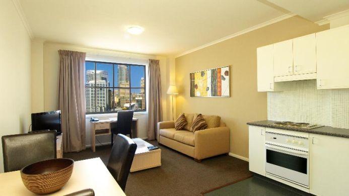 View of Oaks Goldsbrough Apartments Sydney - Muslim Friendly Travel in Sydney