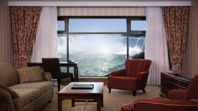 View of Crowne Plaza Hotel Niagara Falls-Fallsview - Muslim Friendly Travel in Niagara Falls