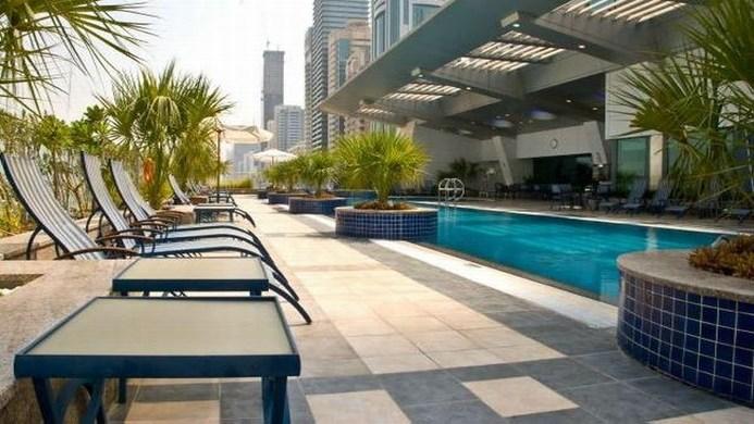 View of Chelsea Tower Apartments Dubai - Muslim Friendly Travel in Dubai