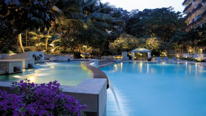 View of Shangri-La Hotel Singapore - Muslim Friendly Travel in Singapore