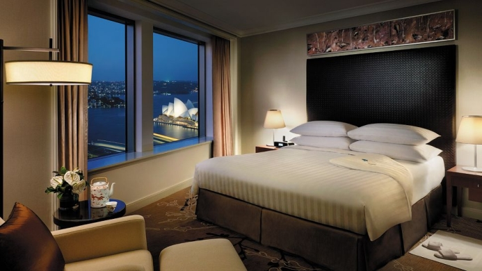 View of Shangri-La Hotel Sydney - Muslim Friendly Travel in Sydney