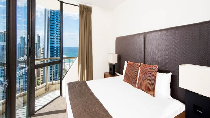 View of Paradise Centre Apartments Surfers Paradise - Muslim Friendly Travel in Gold Coast
