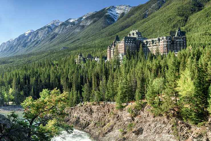 View of The Fairmont Banff Springs - Muslim Friendly Travel in Banff, AB