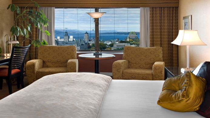 View of Hotel Loews Le Concorde Quebec - Muslim Friendly Travel in Quebec City