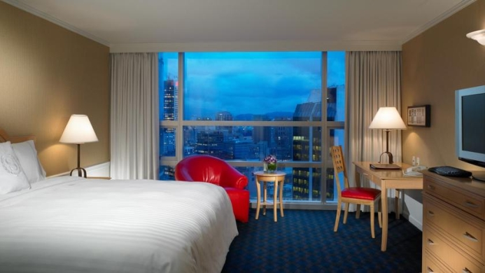 View of Sheraton Wall Centre Hotel Vancouver - Muslim Friendly Travel in Vancouver
