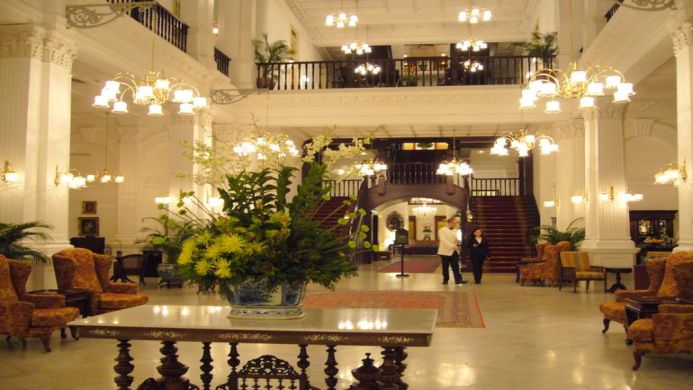 View of Raffles Hotel Singapore - Muslim Friendly Travel in Singapore